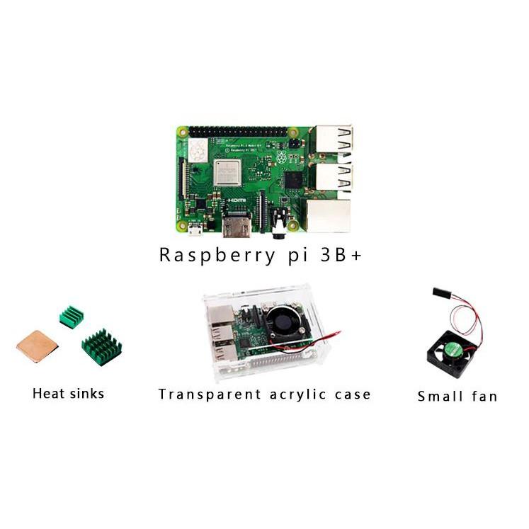 Raspberry Pi 3 Model B+ With Clear Case, Fan, Heat Sink | Shopee