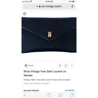 30579cd5abcd9 Authentic YSL Yves Saint Laurent Clutch bag | Shopee Philippines