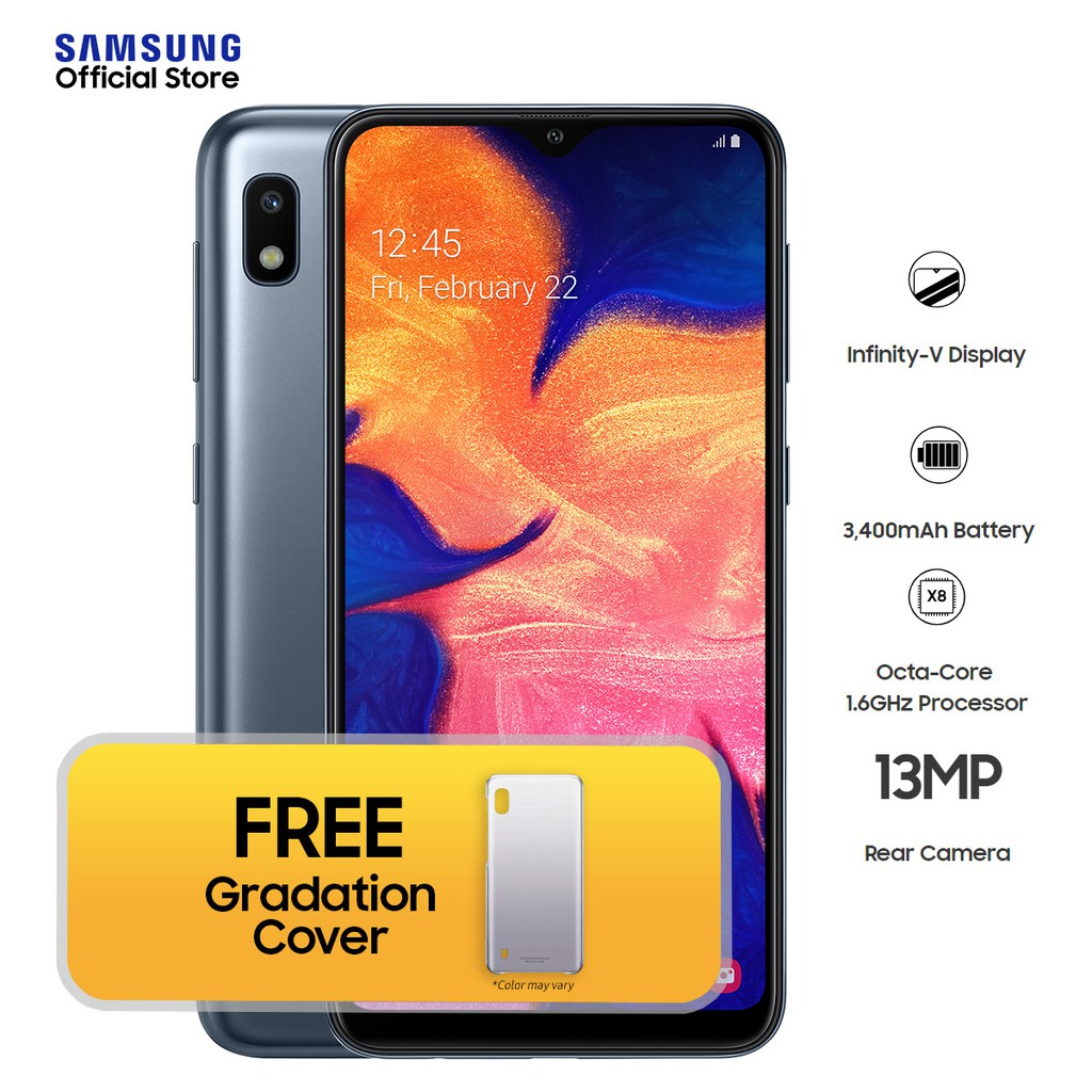 best service 56f7d dfb62 Samsung Galaxy A10 2GB RAM | 32GB ROM with Free Gradation Cover*