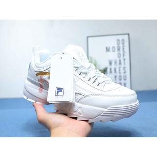 uusia kuvia Uutuudet uusi muotoilu Fila Disruptor 2 Folder XR Sneaker Shoes Gold Pink White