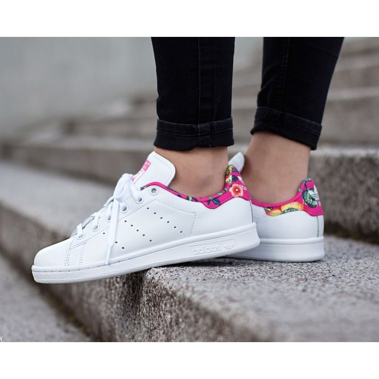 size 40 140a8 9746b Adidas Stan Smith Pink Floral oem | Shopee Philippines