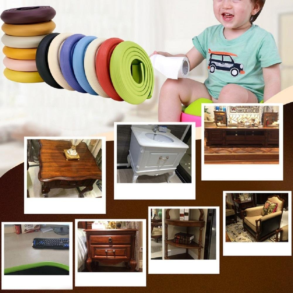 Baby Safety Desk Table Edge Corner Protector Cushion Guard Strip Soft Bumper Wrd