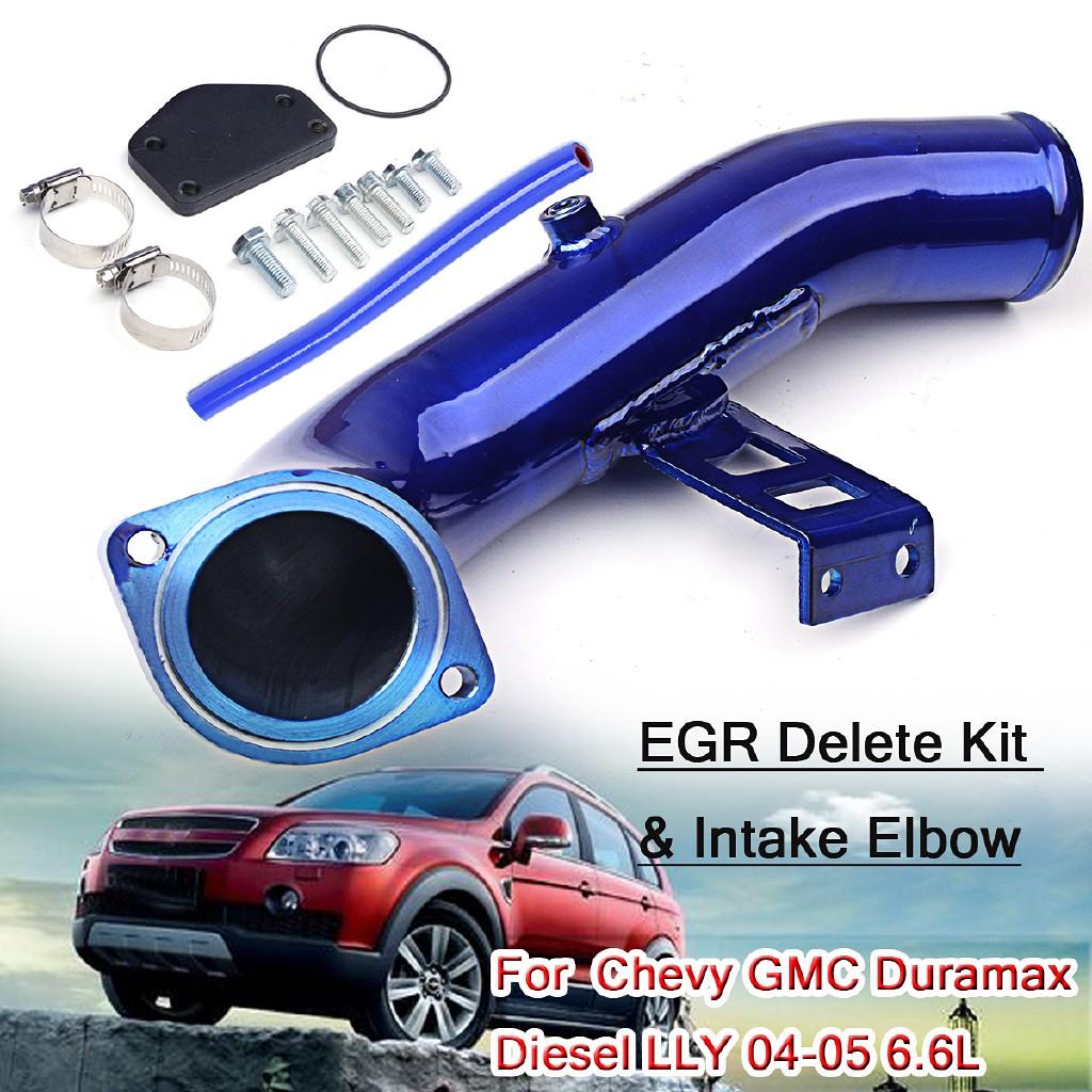 EGR Delete Kit & High Flow Intake Elbow For 6 6L Chevy GMC D