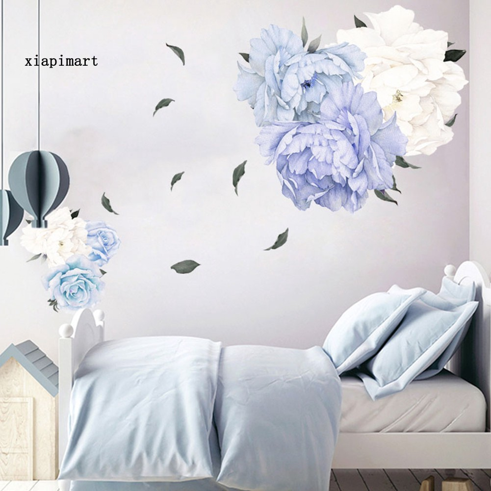 Removable Blossom Peony Flowers Wall Sticker Art Mural Decal DIY Home Room Decor
