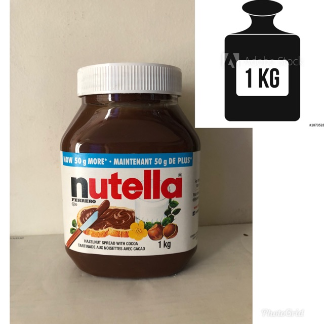 Nutella 1 kilogram + 50grams free expiry date March 2020