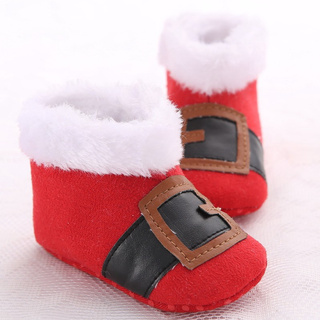 Christmas Boots For Girls.Christmas Santa Claus Baby Boys Girls Snow Boots Baby Shoes