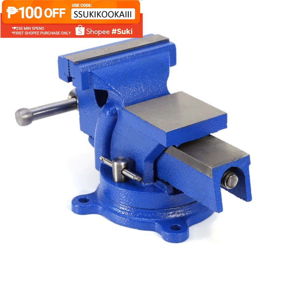Wondrous 6 Inches Heavy Duty Table Bench Vise Swivel Clamp Base With Anvil 0522 Gmtry Best Dining Table And Chair Ideas Images Gmtryco