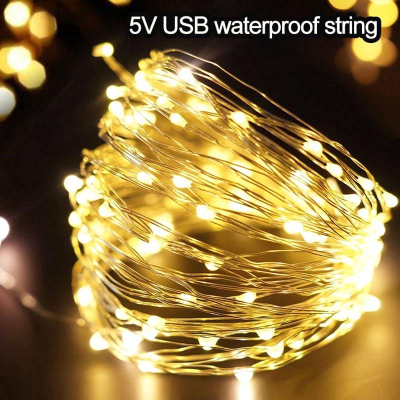 20//30//50 LED Lamp String Fairy Copper Wire Xmas Wedding Party Garden Light Decor