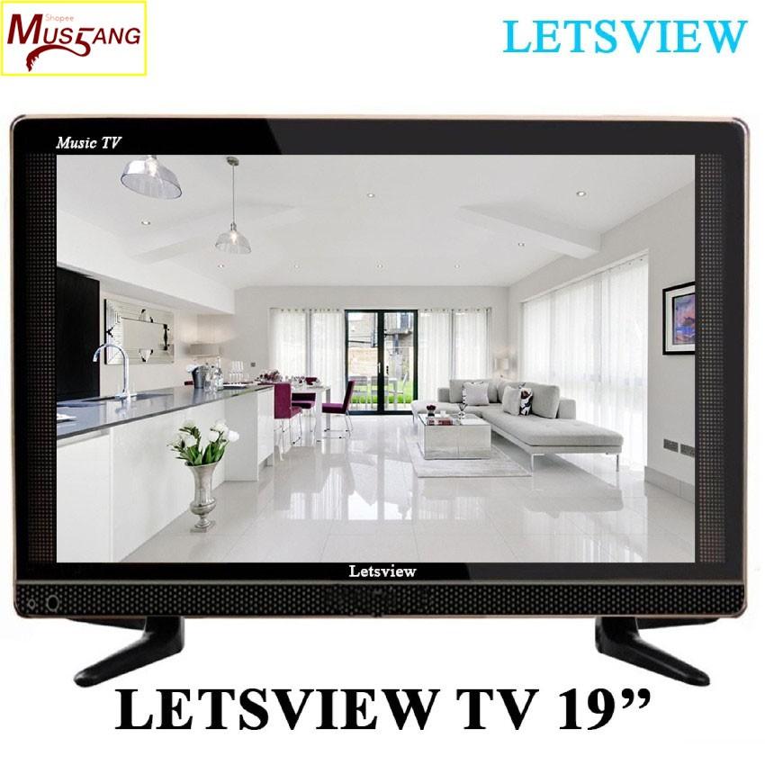 "Letsview 19"" Slim LED TV (Black)"