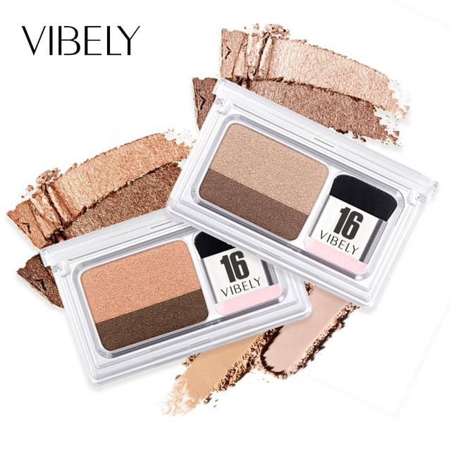 Beauty Essentials Bright Panda Glitter Eyeshadow 6 Color Lasting Waterproof No Makeup Easy Color Pearlescent Eye Shadow Powder Vibely