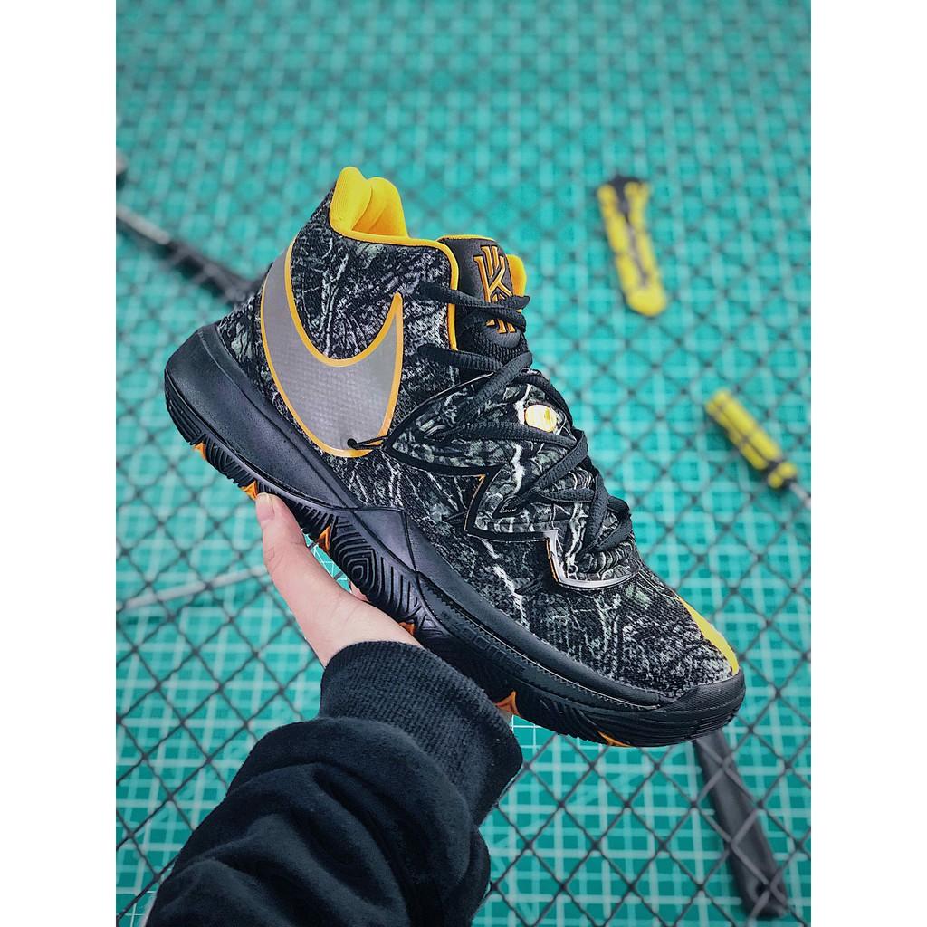 e2fd1265335d Nike Kyrie 5 Black University Red-Grey