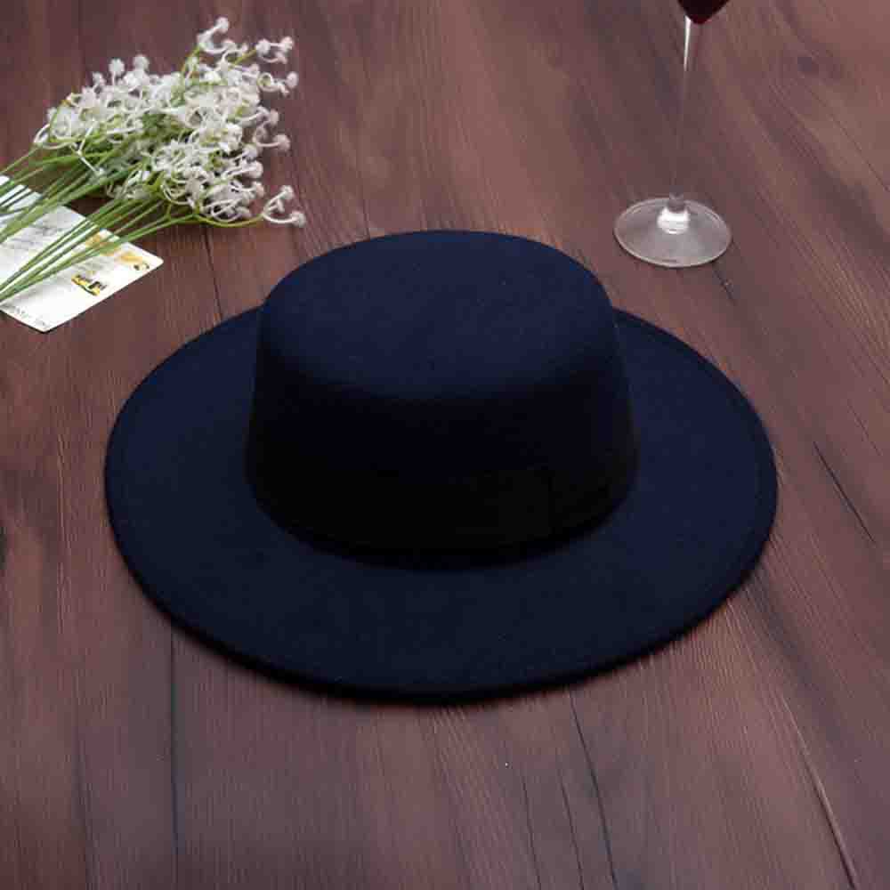 76d5d3eb72b Wide Brim Vintage Wool Felt Hats Women Fedora Men Hat Jazz Hats Sombrero
