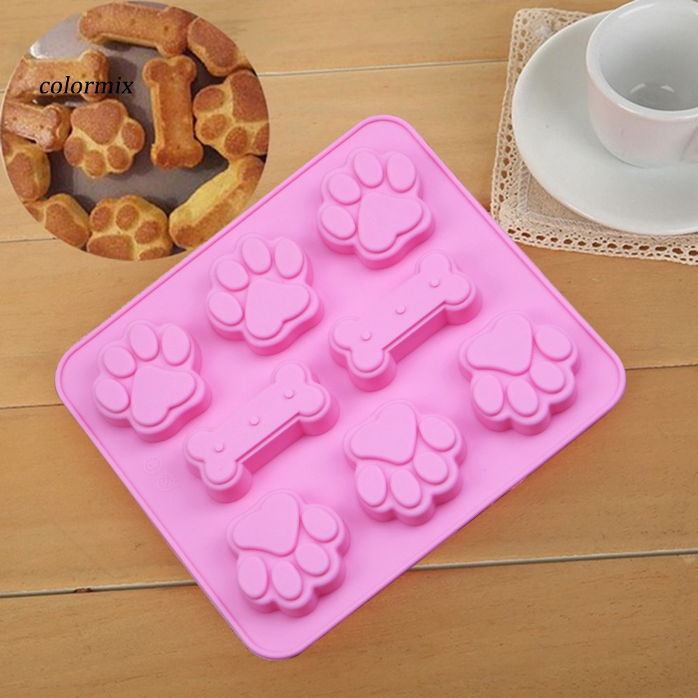 Silicone 6-Dog DIY Cake Decorating Mould Candy Cookies Kitchen Bakeware Tool