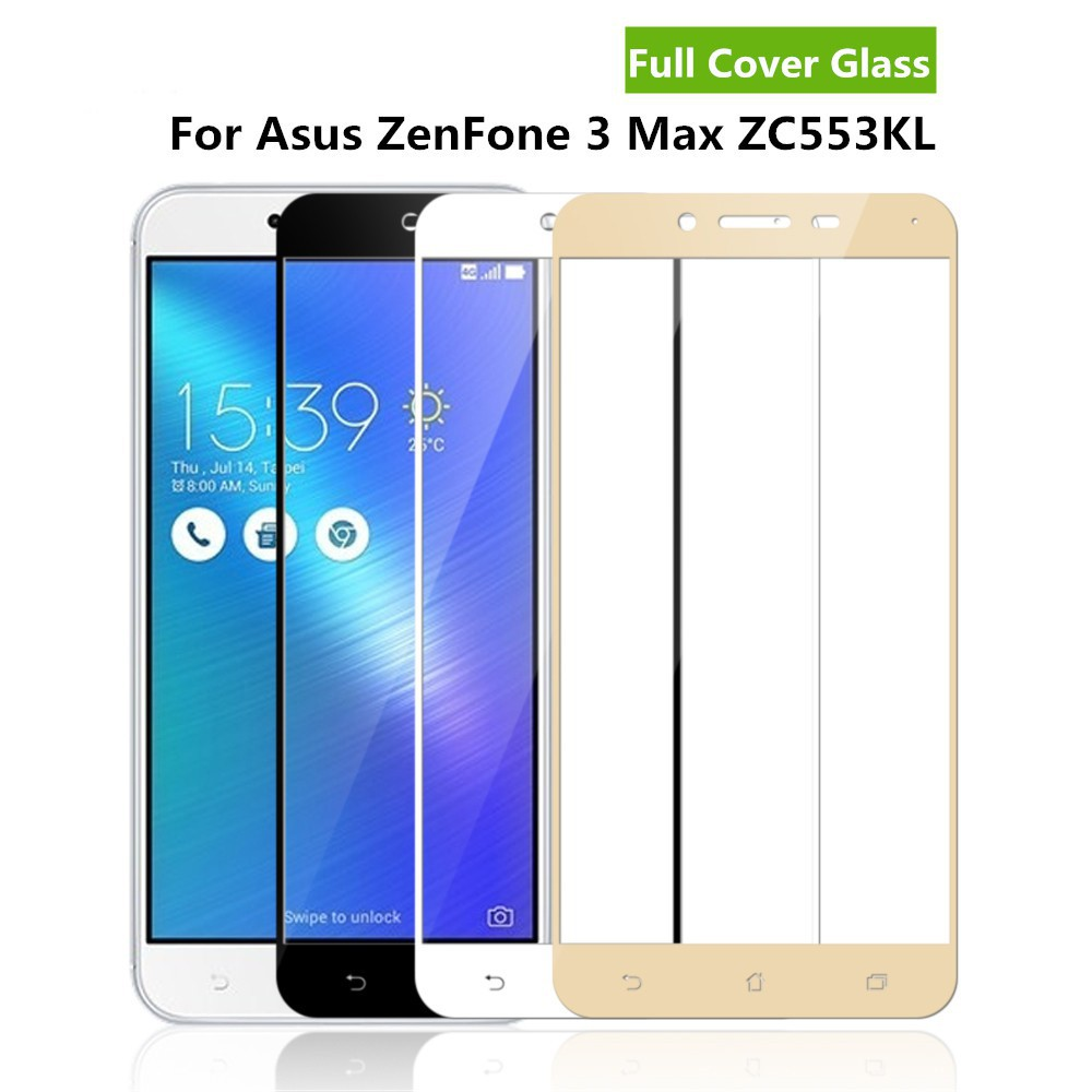 Full Cover Tempered Glass For ASUS Zenfone 3 MAX ZC553KL Screen Protector  Film