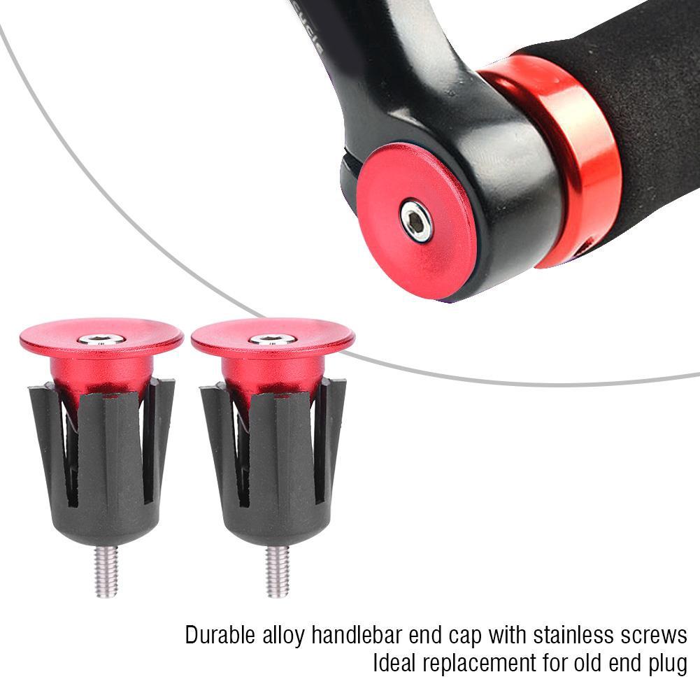 1Pair Aluminum Alloy Handlebar Bar End Plugs Cap For MTB Road Bicycle Nett