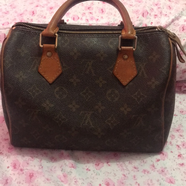 Preloved Authentic Louis Vuitton Speedy 25 Monogram With Serial Number And Pad Lock Shopee Philippines