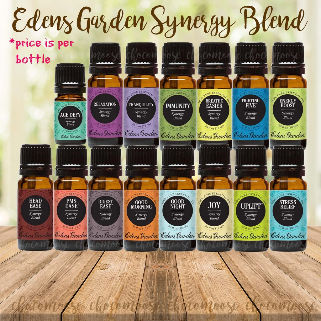 Edens Garden Synergy Blends Pure Essential Oil Shopee Philippines