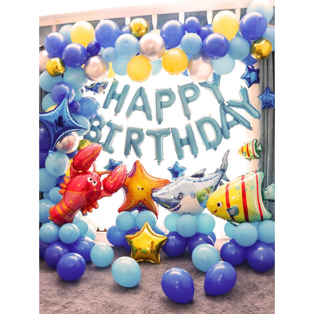 Mermaid Balloon Garland Blue Oecan Balloon Banner Shark Balloon Arch Kit Under The Sea Balloon Decoration Fish Balloon Decor Shopee Philippines