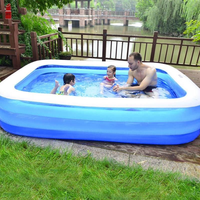Inflatable Pool Swimming Pool Tub Blow Up Kiddie Pool for ...
