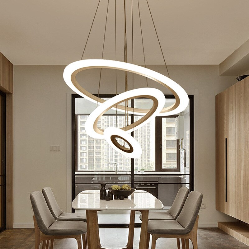 Modern Minimalist Acrylic Led Living Room Chandelier Round Shopee Philippines