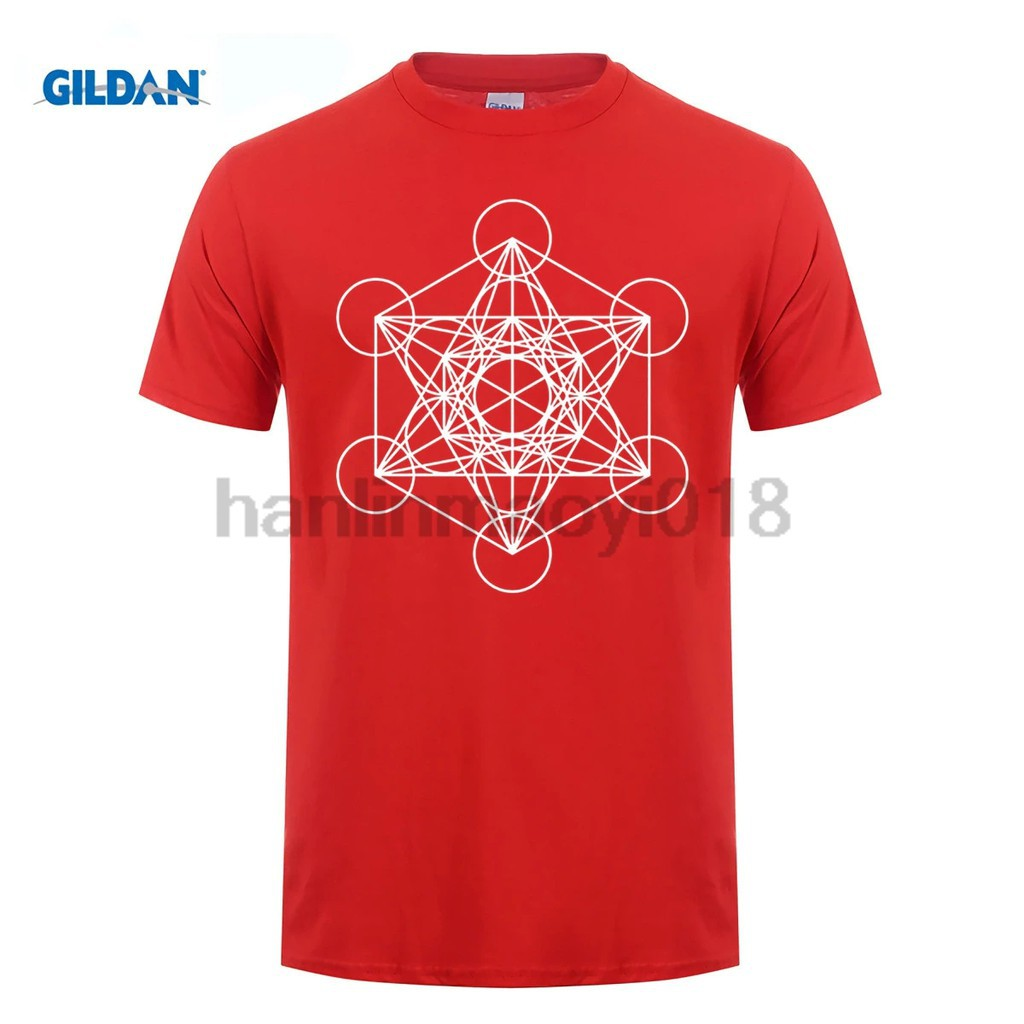 Tops & Tees T-shirts Gildan Brand Men Shirt Metatrons Cube Sacred Geometry Shirt ~ Gold New Varieties Are Introduced One After Another