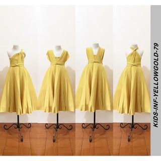 Aula Gratificante Salta  Kids Yellow Gold Infinity Dress with Petticoat | Shopee Philippines
