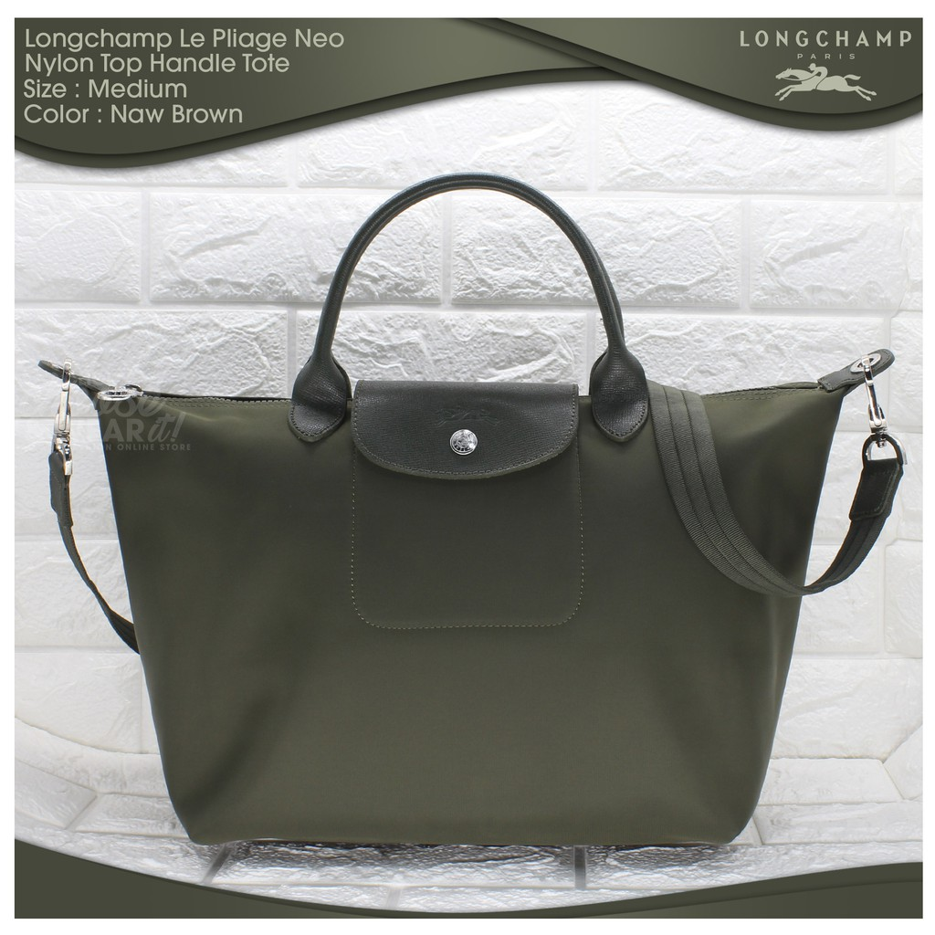 2d38a9d33b17 Authentic Longchamp Le Pliage Neo Medium Tote - Naw Brown