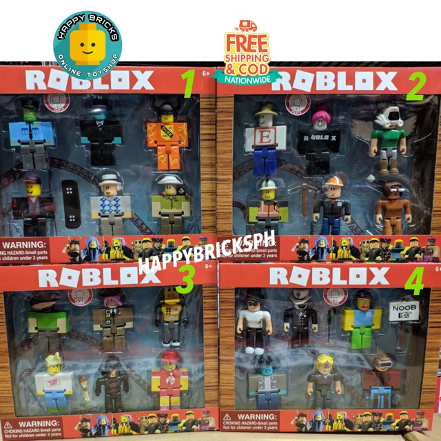 Noob Figure Roblox Toys Roblox Figure Toys Pack Of 6 Characters Per Set Shopee Philippines