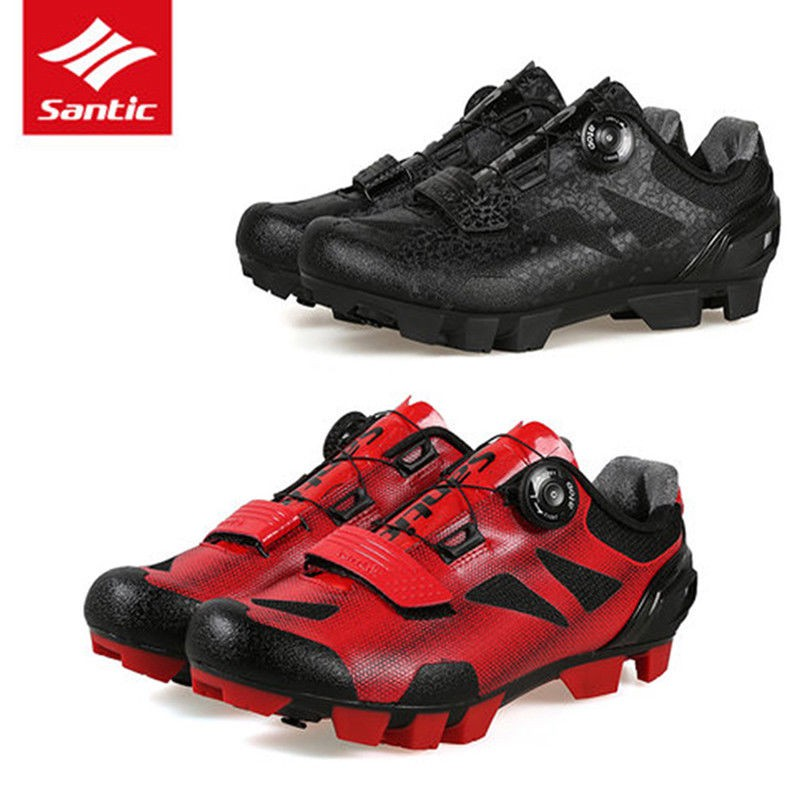 e4844c1d018 Santic MTB Shoes Breathable Cycling Shoes Black   Red