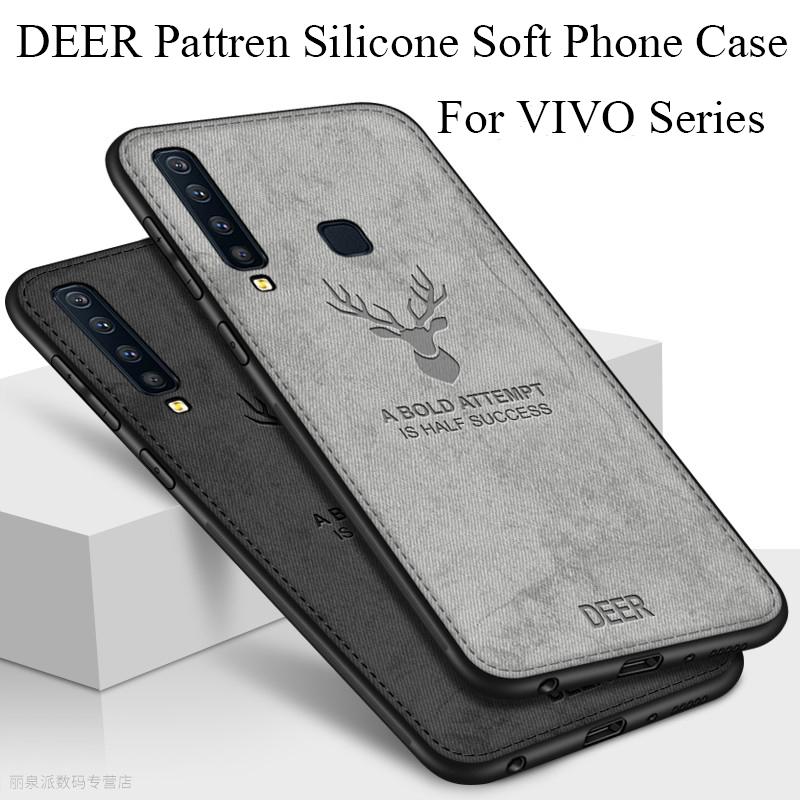 Case VIVO V15 Pro / V11 Pro/V11i / V9 / V7 Plus / V5 Lite Plus / Y85 Elk  Cloth Soft Case Phone Cover