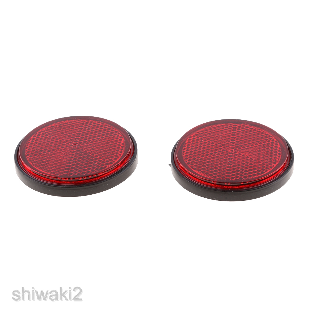 2 Pieces Green Round Reflectors Marker for Motorcycle ATV Bikes Dirt Bike