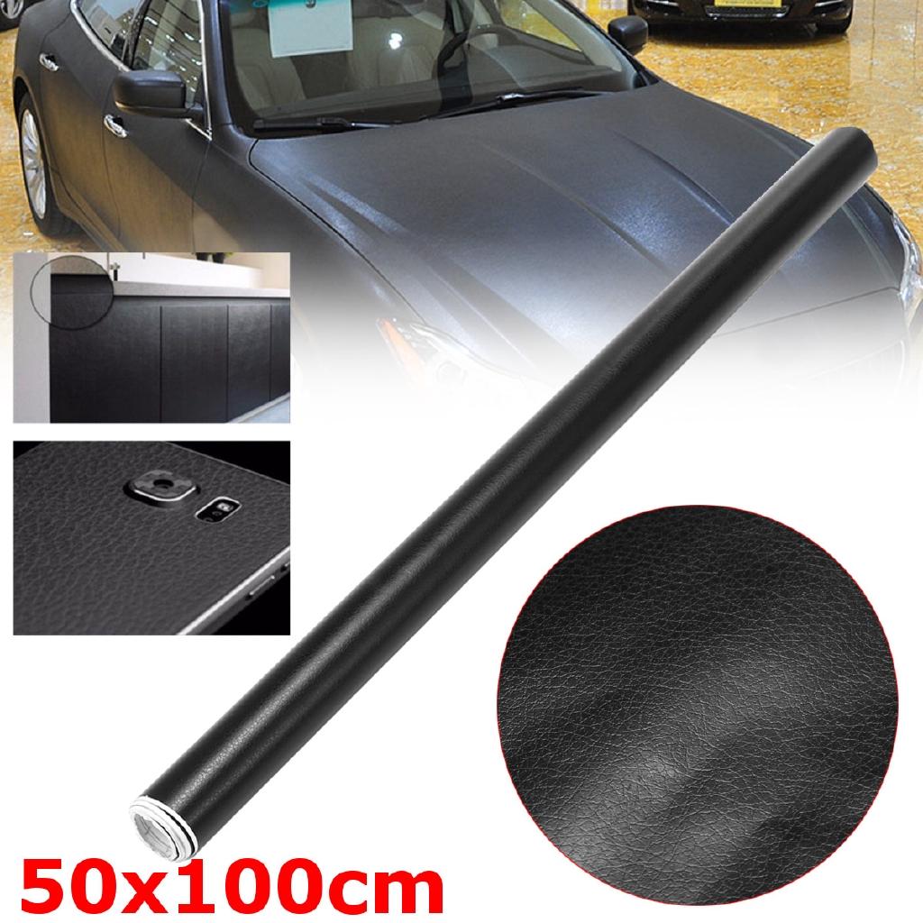 50X100cm 3D Black Matte Carbon Fiber Vinyl Film Sticker Car Wrap Motorcycle SUV