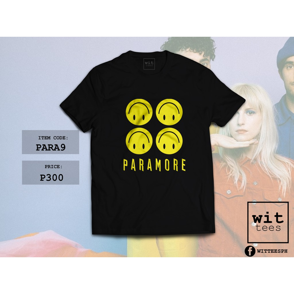 9bd7a3b8645 Paramore Fake Happy Shirt