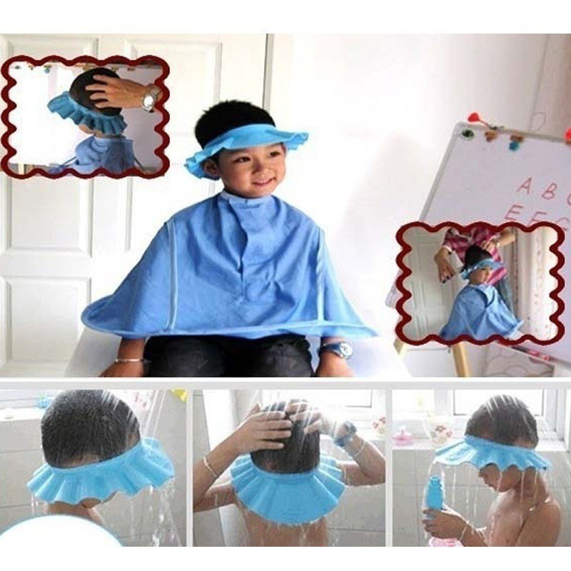 Toddler Baby Boys Girls Shampoo Shower Bathing Protect Soft Hat Baby Shower Cap Shopee Philippines