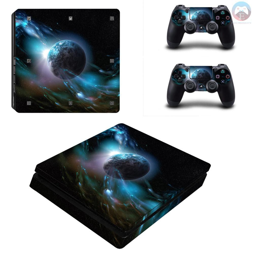 Ê PS4 Slim Game Machine Accessories Stickers PVC Material with Breathable No Air Bubbles