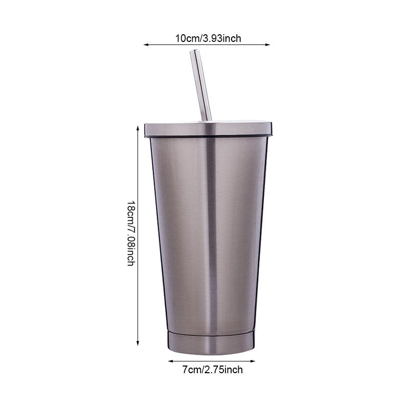 8cea60c9eb6 Creative Stainless Steel Straw Mugs Portable Water Bottle | Shopee ...