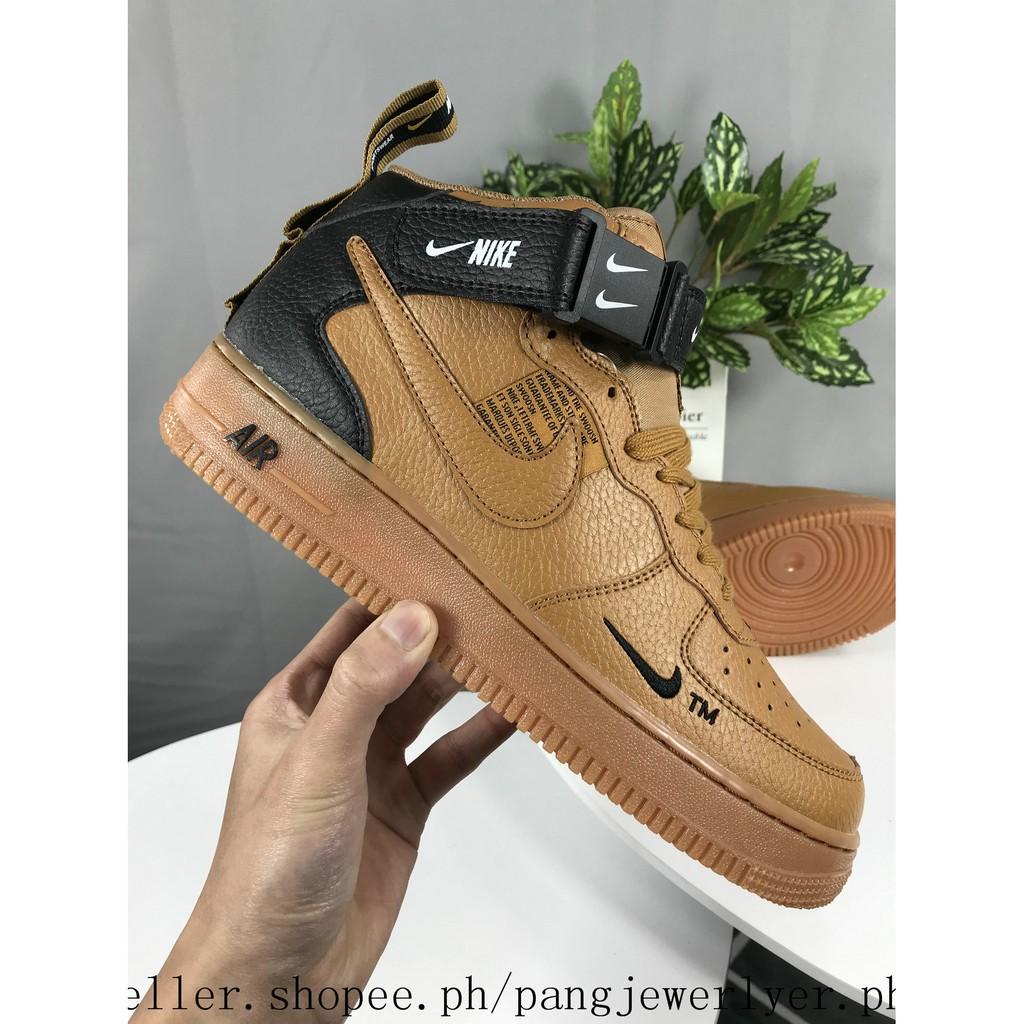 Nike Air Force 1 HIGH BOOT MEN WOMEN RUNNING GOLD 36 45