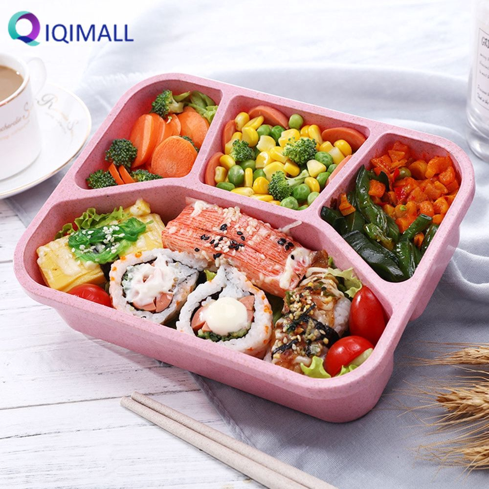Microwave Bento Lunch Box Picnic Food Fruit Container Storage Box For Kids USA