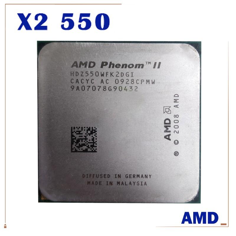 Amd Phenom Ii X2 545 X2 550 X2 555 X2 560 X2 570 X4 635 Cpu Chip Not Open Core Shopee Philippines