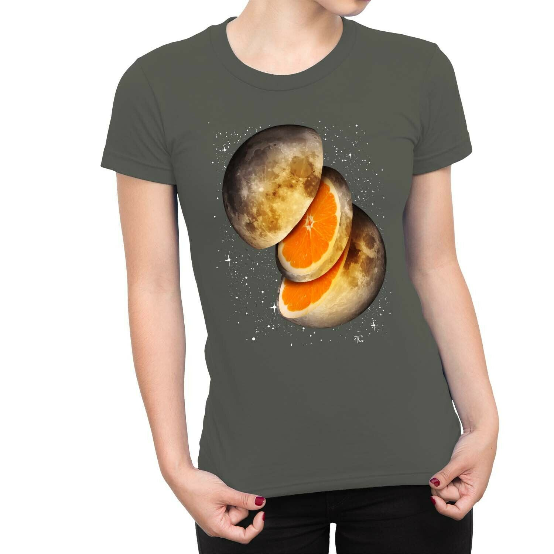 1Tee Kids Boys Moon with Orange Inside Space T-Shirt