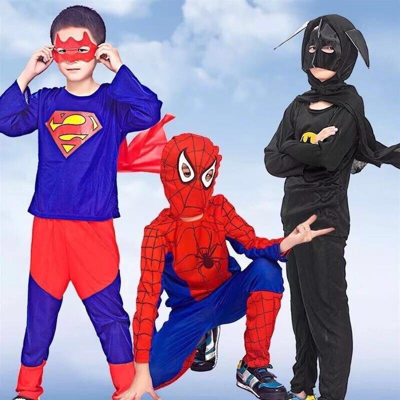 3fda5a9644c58 Halloween costume spider-man Superman Batman