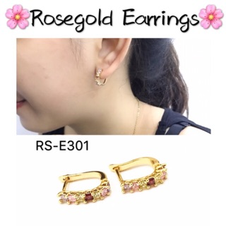 08414af23 [Maii] Crystal diamond Bangkok Rose gold clip earrings | Shopee Philippines