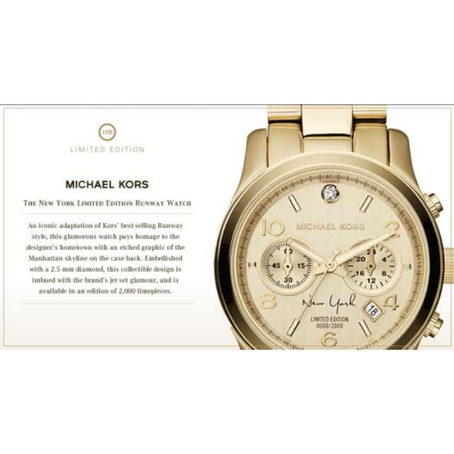 ebac8602e0fd AUTHENTIC Limited Edition New York Michael Kors MK Watch 💕