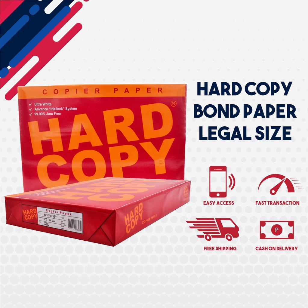 Hard Copy Bond Paper Long / Legal Size 1 Ream   Shopee ...