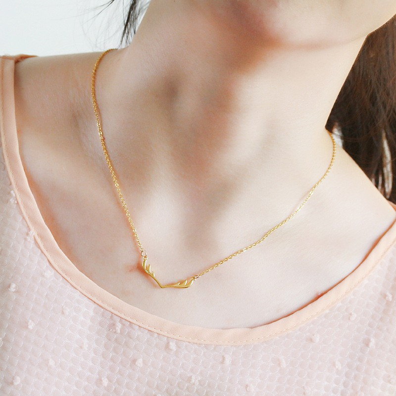 Simple Exquisite Short Clavicle Chain Necklace Pendant Charm Delicate Gift LC
