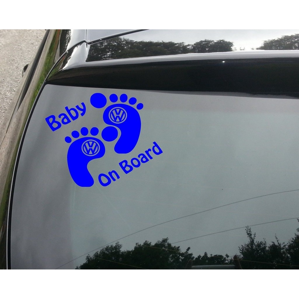 Productimage productimage baby on board blue funny car window jdm vw euro vinyl decal