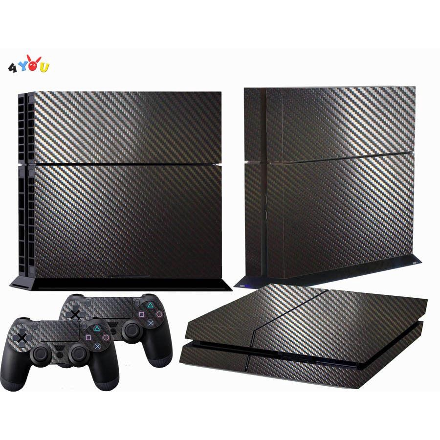 Carbon Fiber Full Protective Skin Cover Sticker Decal Set for Sony PS4 Console Dualshock Controllers | Shopee Philippines