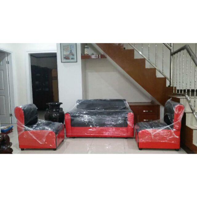 Leather Sala Sofa Set Uratex Foam