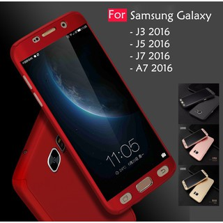 Samsung Galaxy A7 J3 J5 J7 2016 360 Full Protect Cover Case With Tempered Glass | Shopee Philippines