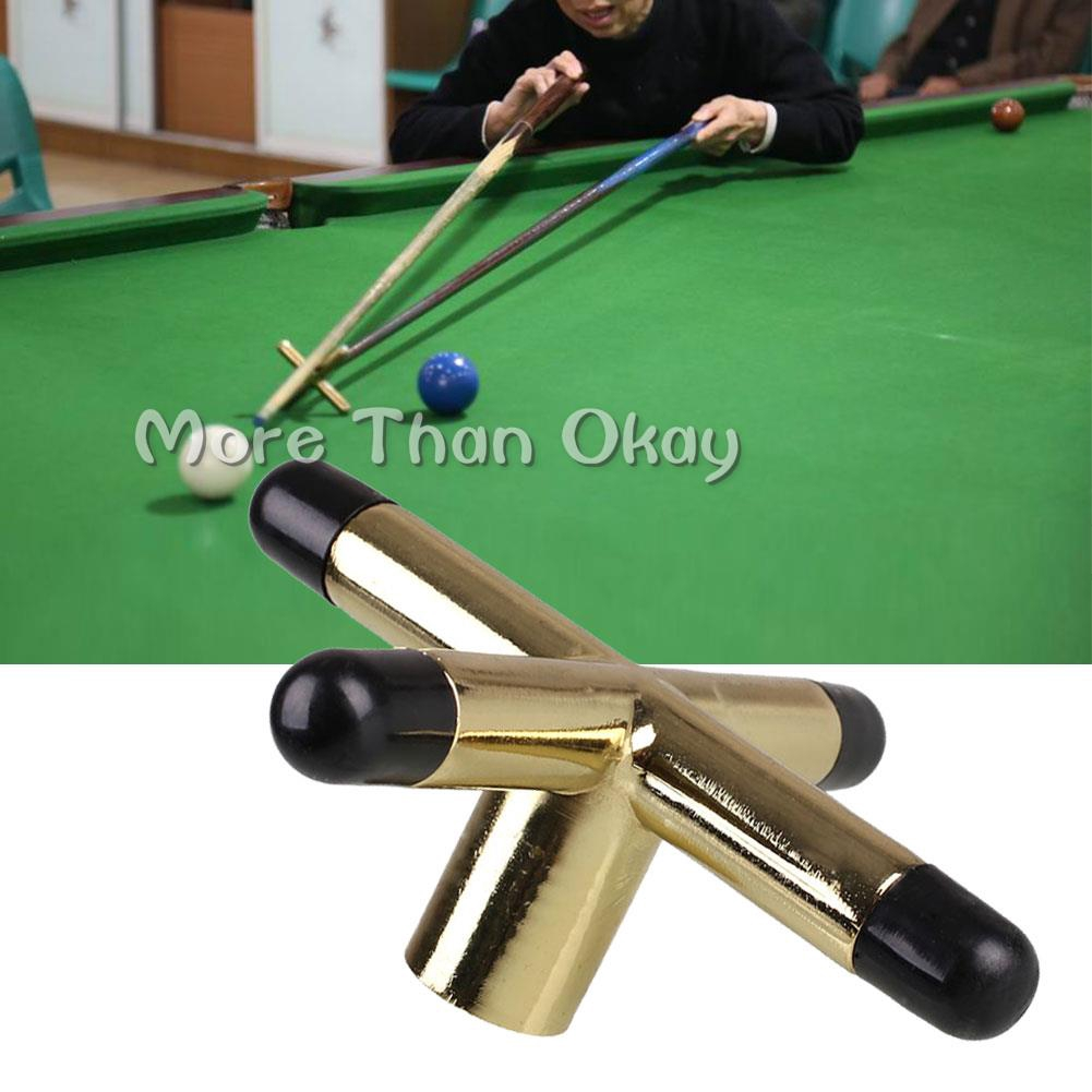 kesoto 2Pcs Metal Bridge Head Crown Pool Cue Stick Rest Frame for Snooker Billiard Table